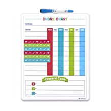 U Brands Contempo Magnetic Dry Erase Chore Chart, 11 X 14-Inch, White Frame