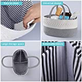 Baby Diaper Caddy Organizer Gray- Stylish Rope