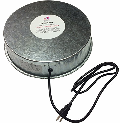 Farm Innovators Model HP-125 Heated Base For Metal Poultry Founts, 125-Watt Waterer Base