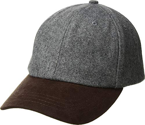 (San Diego Hat Company Men's CTH1502 Wool Crown and Faux Suede Brim Baseball Cap Grey One Size)