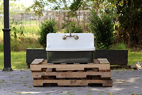 Depth Kohler Bath Sink - Vintage Style High Back Farm Sink Apron Kitchen Utility Sink Package Vitreous China Kohler Gilford – Studio Green Measurements: