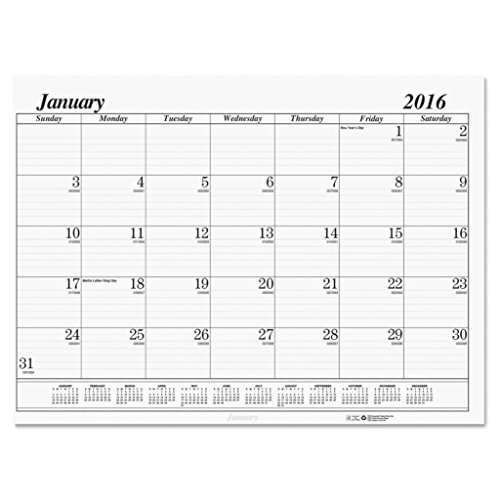 HOD126 - Refillable 22 x 17 Desk Pad - House of Doolittle One-Color Dated Monthly Desk Pad Calendar Refill - Each