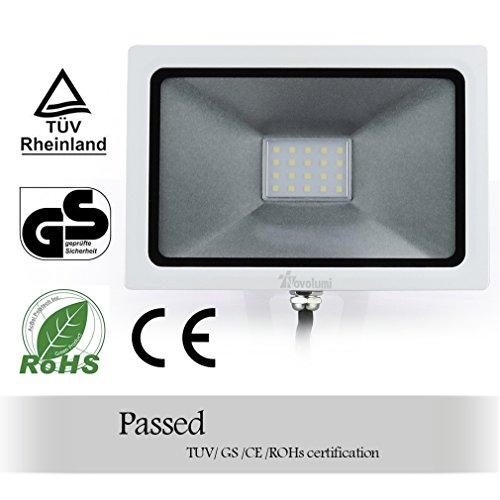 Novolumi® 20w Projecteur Plat Ultra Extérieur Led Lampe 2DIEH9W