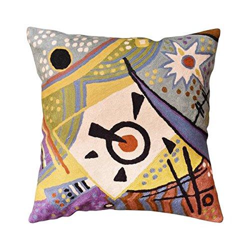 Kashmir Designs Kandinsky Cosmic Cushion Cover Hand Embroidered 18