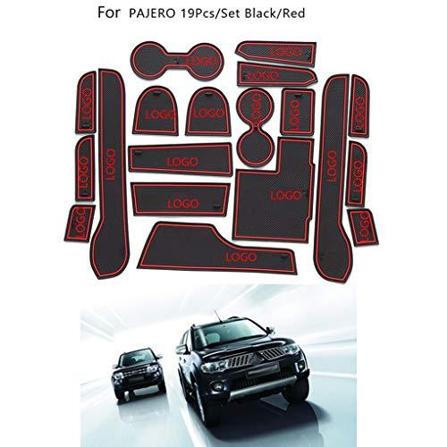 Ustyle 19pcs/Set Gate Slot Pad Automotive Interior Non-Slip Mats Replacement for Mitsubishi Pajero 2014-2015