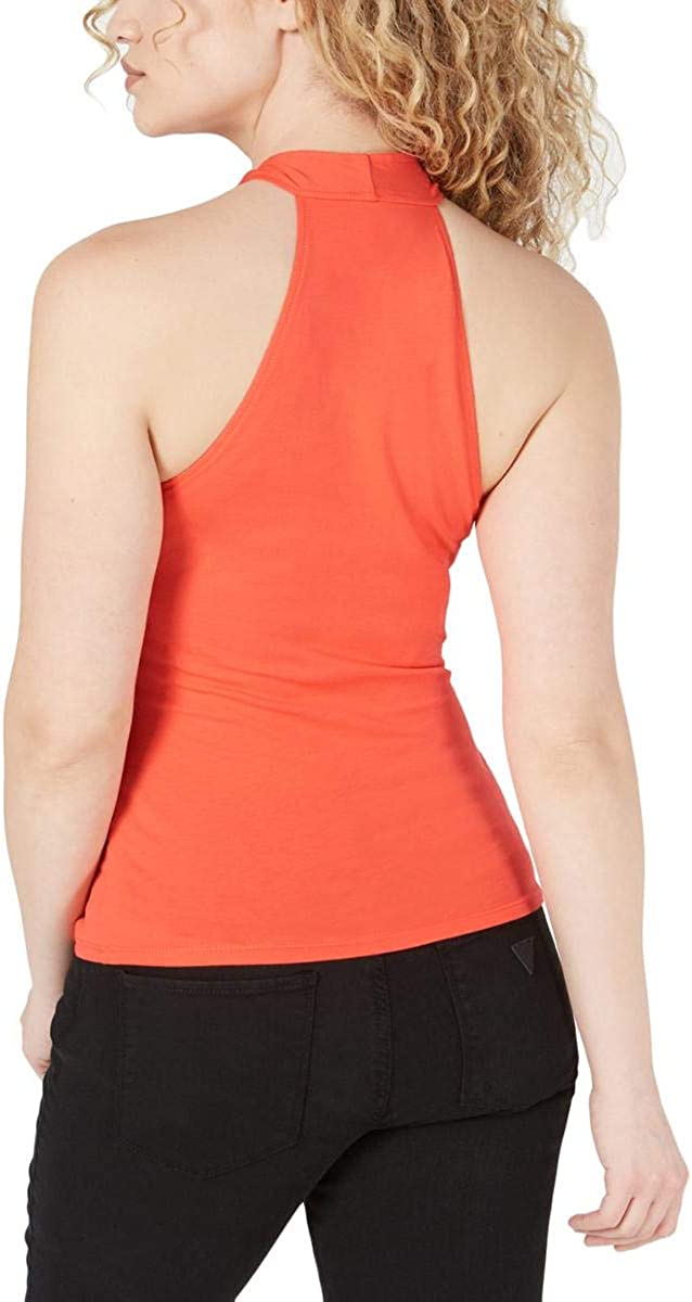 GUESS Womens Coral Sleeveless Tank Party Top Size L