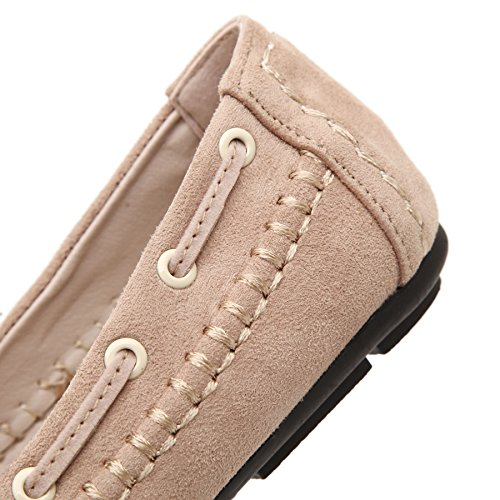 Moccasins Flat Womens Shoes on Bowknot Driving Casual Beige Loafers Meeshine Slip 1tqw8d78