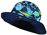 Baby Aussie Sun Hat Sharks ~ UPF 50+ Sun Protection (Infant 6-18 Months)