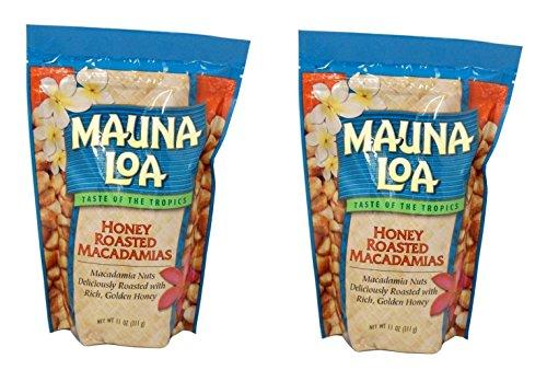 Mauna Loa Honey Roasted Macadamia Nuts, 11-Ounce package (Pack of - Loa Honey Mauna Roasted