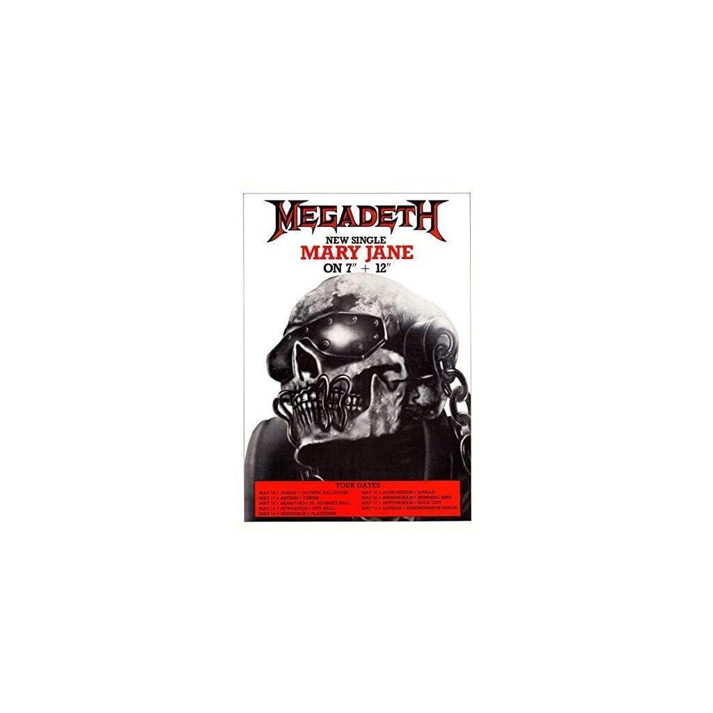 Megadeth Mary Jane so Far Good 1988 Tour Póster