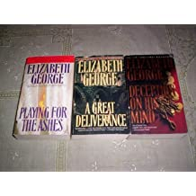 Elizabeth George - (Set of 3) - Not a Boxed Set (A Great Deliverance - 1989 / Playing for ashes - 1997 / Deception on his Mind - 1998)