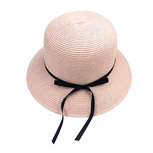 Chapeau Soleil De Capeline Eté Acvip Mode Femme Voyage Rose paille Melon E7ww4qf
