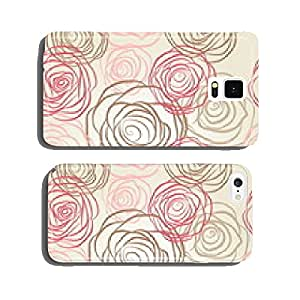 Seamless pattern with flowers roses vector cell phone cover case iPhone6 Plus