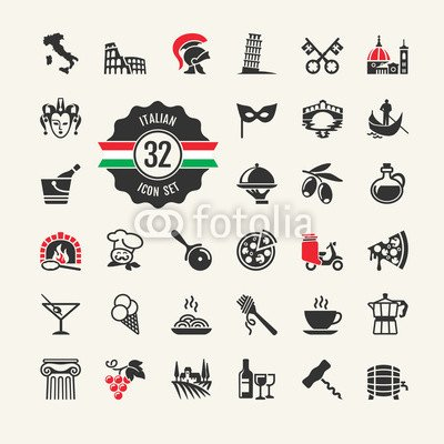 adrium Travel - Web Icon Set. ATTR Actions, Food and Culture of ...