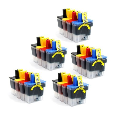 Inkcool 20 Pack Brother LC41 Compatible Ink Cartridges for MFC 210C 3340CN 420CN 5440CN 5840CN 620CN Brother Mfc 5440cn Printer