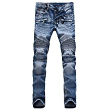 Men's Skinny Runway Stretch Jeans Biker Jeans Hiphop Pants