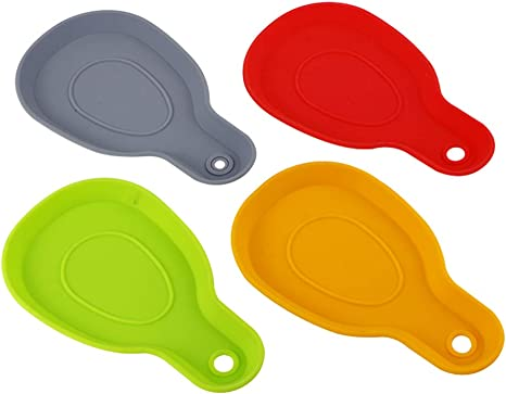 Kitchen Utensil Rest Silicone Spoon Rest Ladle /& Spoon Holder for Cooking Top
