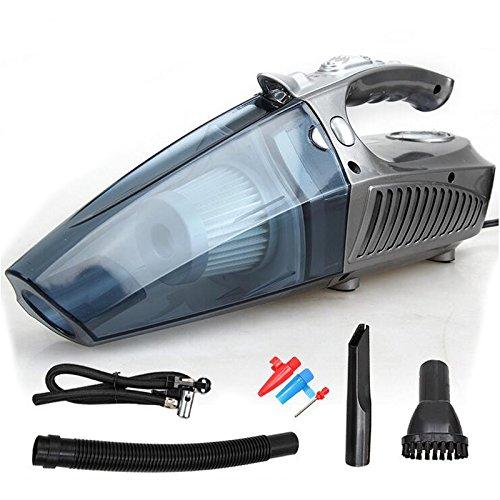 homdsim multifunción portátil Potente aspirador de coche auto Handheld Seco Mojado con luz LED–Inflador de...