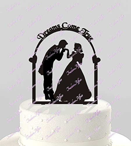 Liz66Ward Fairy Tale Prince and Princess Wedding Cake Toppers with Dreams Come True