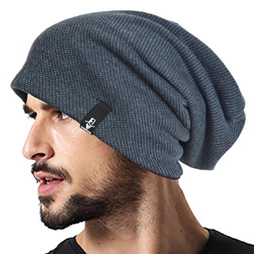 Men's Cool Cotton Beanie Slouch Skull Cap Long Baggy Hip-hop Winter Summer Hat B305