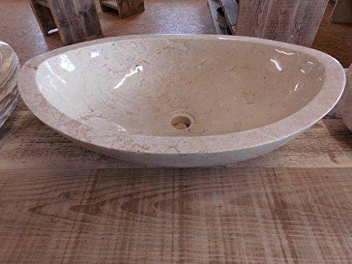 Naturstein waschbecken oval