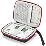 Hard travel case for Korg TM-50 / TM-60BK Tuner Metronome and Clip on Microphone, Protective Carrying Storage Bag - Black