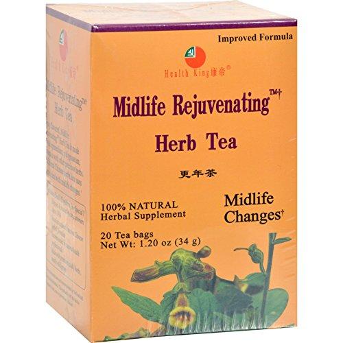2 Pack of Health King Midlife Rejuvenating Herb Tea - 20 Tea (Midlife Rejuvenating Herb Tea)