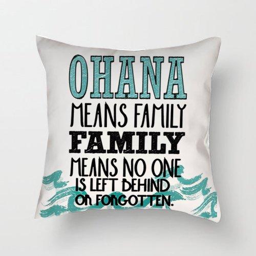 Hiros® Ohana means family Lilo y Stitch Decoración Cojín con ...