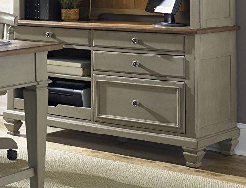 Liberty Furniture 541-HO120 Bungalow Jr Executive Credenza Base, 58