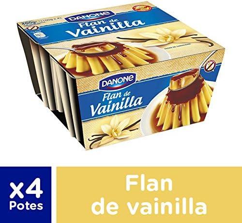Danone Flan de Vainilla, 4 x 100g
