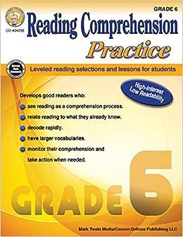 Reading Comprehension Practice, Grade 6: Janet P Sitter