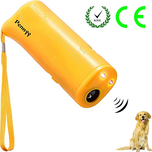 Anti Barking Device Stop Dog Barking Ultrasonic 3 in 1 Stop Bark Handheld with LED Flashlight for Small Medium and Large Dogs