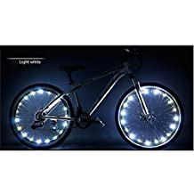 Happy Hours - Waterproof 20 Led Bike Wheel Light String Safety Flash / Led Strip Lamp for Night Riding Cycling Bicycle Spoke Fun Tire Light Working with 3 AA Batteries