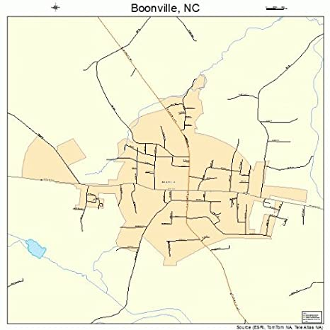 Amazon.com: Large Street & Road Map of Boonville, North Carolina