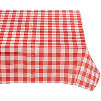 Amazon Com Red Cotton Gingham Check Picnic Tablecloth 52