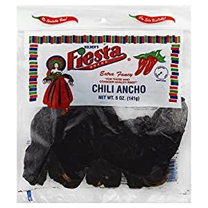 Bolner's Fiesta Brand Chilis 5 Oz Bag Dried Chilis (Pack of 2) (Chili Ancho)