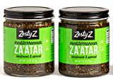 Za'atar Spice Condiment (Zaatar/Zatar/Zahtar), Mediterranean Seasoning Blend, All Natural, Gluten Free, Vegan, Keto, Paleo, Sugar Free, Zesty Z, 7.5 ounces, Pack of 2