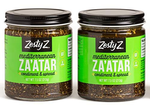 Savory Za'atar Spice Condiment (Zaatar/Zatar/Zahtar), Mediterranean Seasoning Blend, All Natural, Gluten Free, Vegan, Keto, Paleo, Sugar Free, Zesty Z, 8.1 ounces, Pack of ()