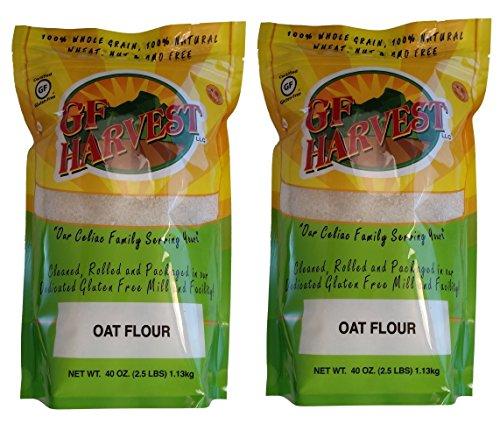 GF Harvest Gluten Free Whole Grain Oat Flour, 40 Oz. Bag, 2 Count (Organic Oat Flour)