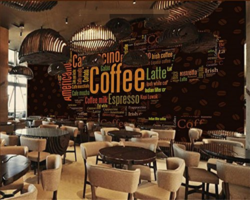 beibehang Custom 3D Photo Wall Paper Alphabet Coffee Cup Coffee Shop Decorative Background Wallpaper for Walls 3 d Papier peint