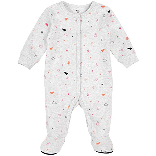 Footed Snap Sleeper Front (Petit Lem Baby Footed Sleeper, Fairy Tale, NB)