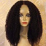ALYSSA Hair Brazilian Afro Kinky Curly Hair Wig 150density Unprocessed Virgin Brazilian Human Hair Full Lace Wigs For Black Women 20in #1b For Sale