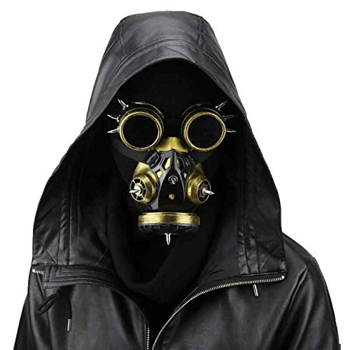 Steampunk Gas Goggles Mask Gothic Punk Zombie Soldiers Skull Mask Halloween -