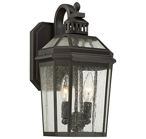 Minka Lavery Minka 72532-143 Transitional Two Light Outdoor Wall Mount from Hawks Point Collection in Bronze/Darkfinish Savannah Collection Two Light