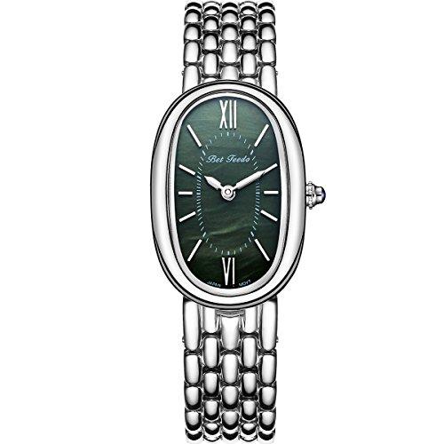 Wrist Watch for Women, Rosegold Fashion Dress Quartz Watch, BETFEEDO Waterproof Analog Watch (Green) by BETFEEDO