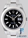 (ロレックス) ROLEX 腕時計 デイトジャストⅡ 116334 ブラック バー メンズ [並行輸入品]