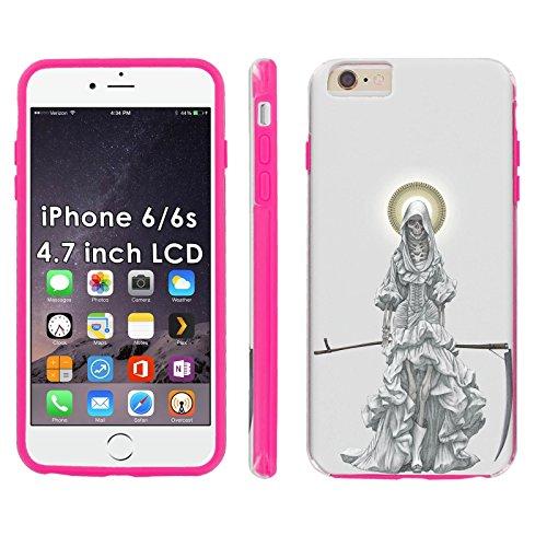 iPhone 6/6s 4.7-inch Phone Cover, Santa Muerte- Pink Shell Shock Phone Case for [iPhone 6/6s 4.7-inch] (Muerte Case Santa 6 Iphone)