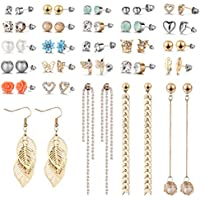 26-Pack Aganippe Assorted Multiple Stud Earrings
