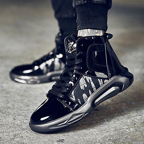 Men's Shoes Feifei Winter Fashion Personality Keep Warm High Help Tide Shoes 2 Colours (Color : Black, Size : EU/41/UK7.5-8/CN42)