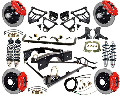 NEW RIDETECH COILOVER & 4-LINK SYSTEM WITH WILWOOD DISC BRAKES,CONTROL ARMS,SPINDLES,FRONT SWAY BAR,13
